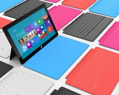 разные цвета Microsoft Surface Pro