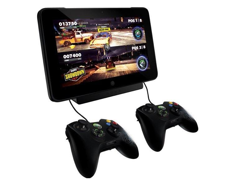 фото игрового планшета с джойстиками