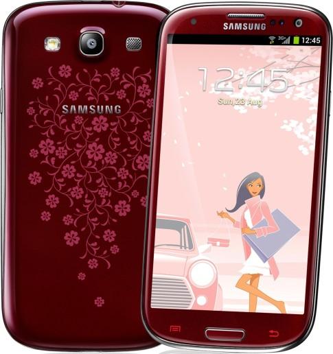 Samsung Galaxy S III La Fleur в бордовом цвете