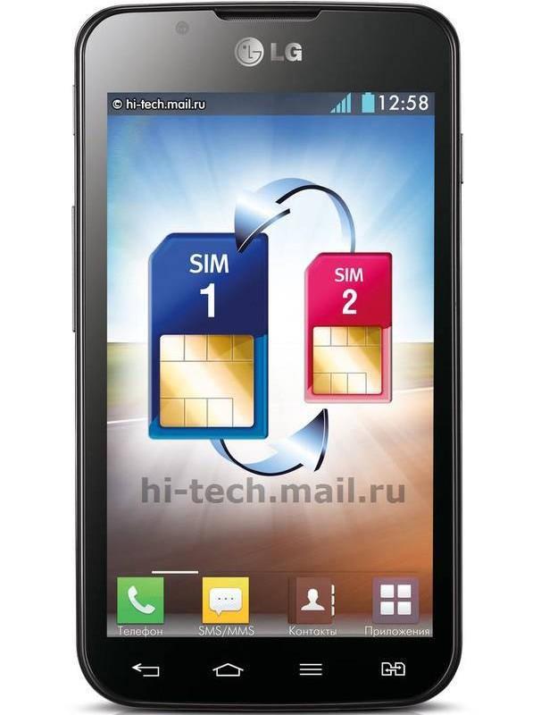 черный LG Optimus L7 II Dual