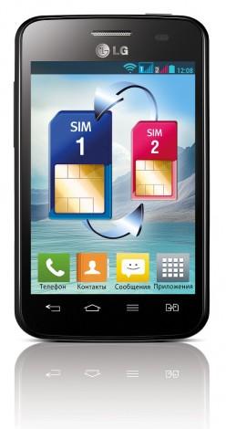 черный LG Optimus L3 II Dual 2013