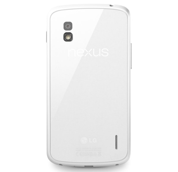 задняя крышка белого Nexus 4 White