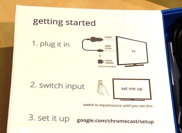 схема подключения Google Chromecast к телевизору