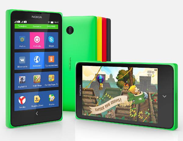 Смартфон Nokia X на Android