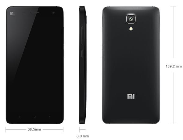 размеры Xiaomi Mi4