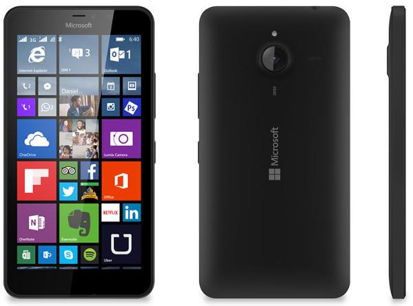 черный Microsoft Lumia 640 XL