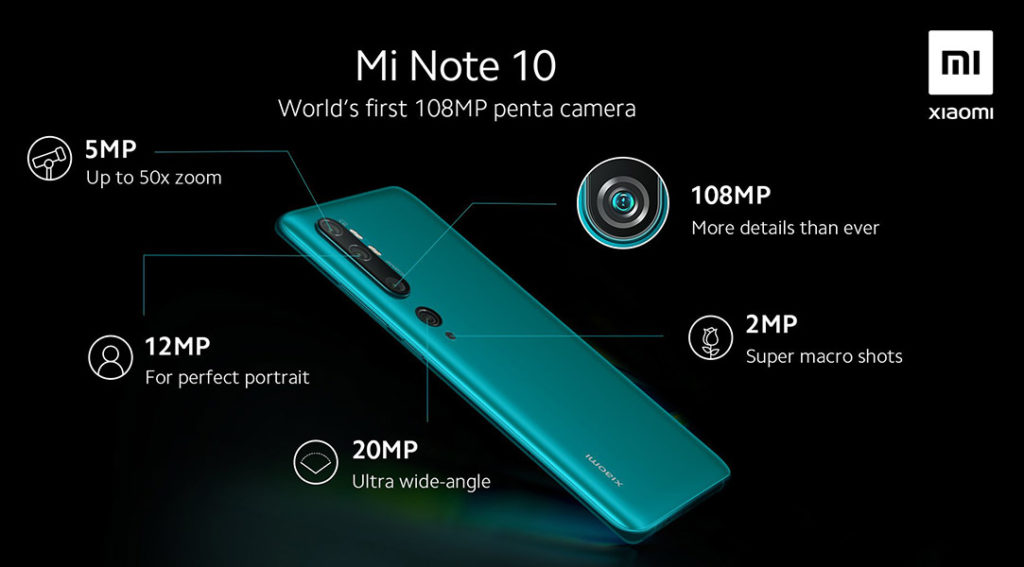 камеры Xiaomi Mi Note 10